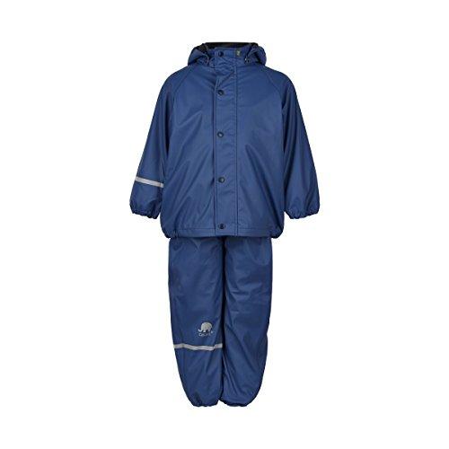 CeLaVi Kinder Jungen Regenanzug, Gefüttert, Hose und Jacke, Alter: ab 5 Jahren, Größe: 110, Farbe: Blau, 310125