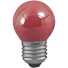 Bombilla esférica de color ROJO 25W rosca E27 230V Ref. 94-129