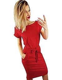61545a740 LILICAT® Vestido casual de playa de verano para mujer