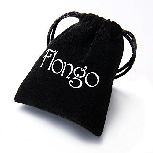 Flongo Edelstahl Damenring Ring Silber Weiss Strass Linie Breit 4mm Damen Frauen Mädchen Bandring Hochzeit Engagement Verlobungsring