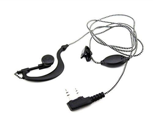 Baofeng Walkie Talkie Mic Headset Tissé Câble Type K écouteurs pour UV-5R UV 5R UV-5RE UV-B5 BF-888S 888S UV-B5