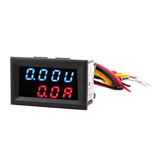 DC 0-30 V, Dual 0-100A Blau Rot Digital LED Panel-Meter Voltmeter Amperemeter (Dual Gauge Mount)