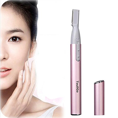 Augenbrauen-Trimmer Gesichtshaartrimmer Portable Electric Women Eyebrow Bikini Legs Trimmer Body Hair Remover Shaver with Plastic Mini Comb Electric Facial Hair Remover Removal Tool Eyebrow Trimmer Razor Set for Shaving Body Hair Like Eyebrow, Ear, Hair, Arms, Legs and Redundant Hair
