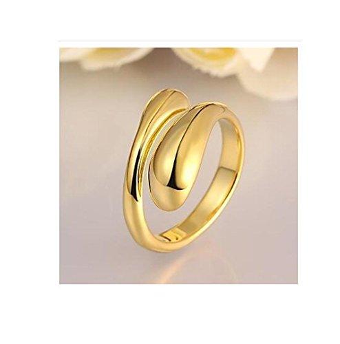 GYJUN Ringe Einstellbar Party Schmuck Aleación / Rose Gold überzogen Damen Statementringe 1 Stück,Eine Größe Goldfarben , gold (Adizero Rose 1)
