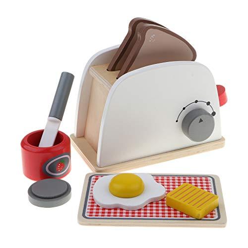 KESOTO Juguete de Utensilio de Cocina Máquina de Pan/Cafetera/Batidora en Miniatura Accesorios de Casa de Muñecas - Máquina de Pan
