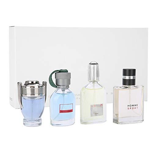 Yonhchop 4 Flaschen 100ml Herren Parfüm Langlebig Leichter Duft Köln Parfüm Set Geschenkbox Kompatibel Erntedankfest
