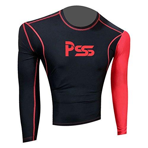 Prime Sports -  Felpa  - Uomo 809-Black-Red