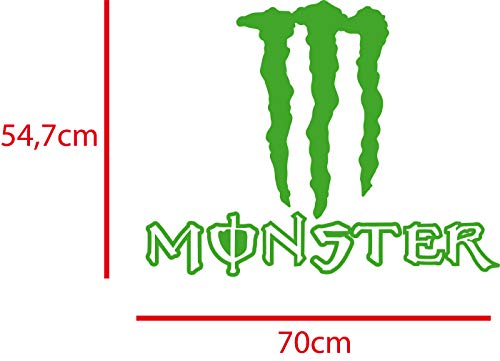 Monster Energy Aufkleber 70 x 54,7cm in verschiedenen Farben möglich, freistehender Aufkleber