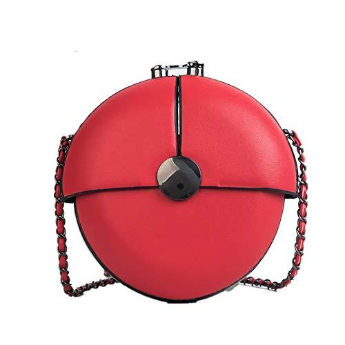 Buckle Flap Bag (GMYANDJB Personality Clip Buckle Chain Small Crossbody Shoulder Bags for Women Circular Designer Flap Purse Mini Round Handbags)