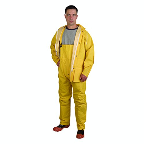 Cordoba Sicherheit Produkte Stormfront 3Stück Regen Anzug mit abnehmbare Kapuze, gelb, CRS353YXL (Kapuzen-anzug 3 Stück)