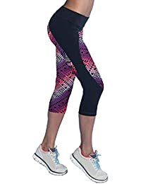 Pantalones mujer deporte Sannysis YOGA Pantalones Mallas para mujer, color (03, XL)