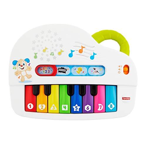 Fisher Price Pianoforte di Cagnolino Gioco Musicale con Luci e Suoni Versione Italiana Bambini 6 e Mesi GFK03