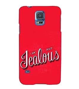 FUSON I Am Not Jealous 3D Hard Polycarbonate Designer Back Case Cover for Samsung Galaxy S5 Mini :: Samsung Galaxy S5 Mini Duos :: Samsung Galaxy S5 Mini Duos G80 0H/Ds :: Samsung Galaxy S5 Mini G800F G800A G800Hq G800H G800M G800R4 G800Y