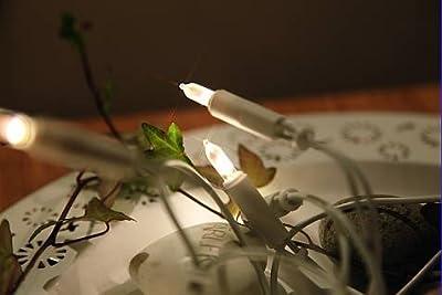 Star LED-Mini-Lichterkette indoor, 50-teilig warm weiß LED, weißes Kabel Vierfarb-Karton 423-11 von Star bei Lampenhans.de