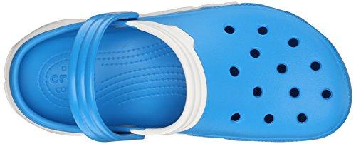crocs Unisex-Erwachsene Duetmaxclg Clogs Blau (Ocean/White)