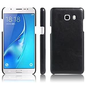 Americhome TM Series Artificial Leather Back Cover For Samsung A710 ( 2016 ADTION) (Black)