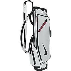 Nike Half Carry Bag Bolsa de Palo de Golf, Unisex adulto, Plata / Negro / Rojo, Talla Única