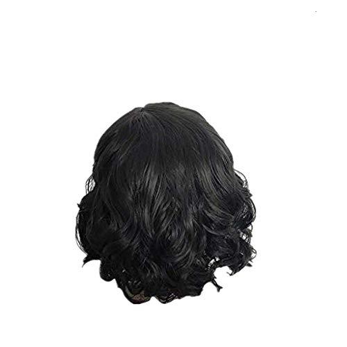 Dtuta Kurzes Lockiges Haar Schwarz, Leicht Zu Tragen HaarverläNgerungen PerüCken Damen Haarteile Echthaar