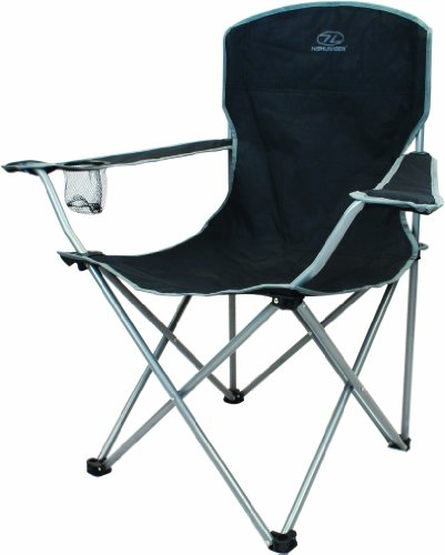 Highlander Folding Camp Chair ― Lightweight & Durable Outdoor Seat ― Perfect for Camping, Festivals, Garden, Caravan Trips, Fishing, Beach, BBQs