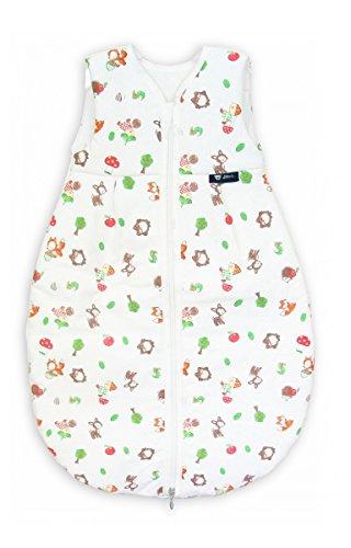 Alvi Schlafsack Mäxchen Thermo   Babyschlafsack ohne Ärmel, Größe:80, Design:Waldfreunde 264-1