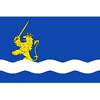 DIPLOMAT-FLAGS Municipal de Agón Zaragoza Paño azul de proporción 2/3, en