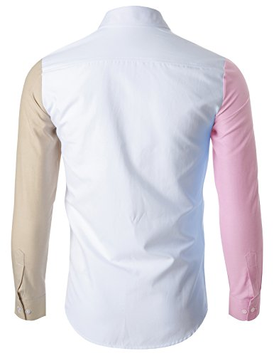 FLATSEVEN Chemise Slim Fit Casual Premium Homme SH1009 Rose