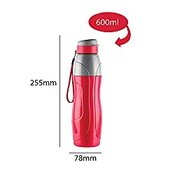 Cello Puro Sports 900 ml / Insulated Water Bottle / (single piece) (RED)