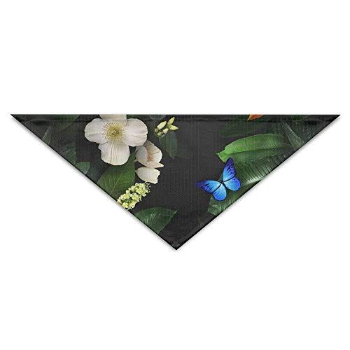 Hectwya Schmetterlinge Blumen Blätter Hund Bandana Lätzchen Welpen Katze Kopftuch Zubehör (Für Mama Und Mich Kostüm)