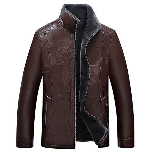 EVNGA Männer Samt Leder 2017 Neue Mantel Kragen Motorrad Leder Casual Pu-Leder Jugend Jacke, schwarz, XL
