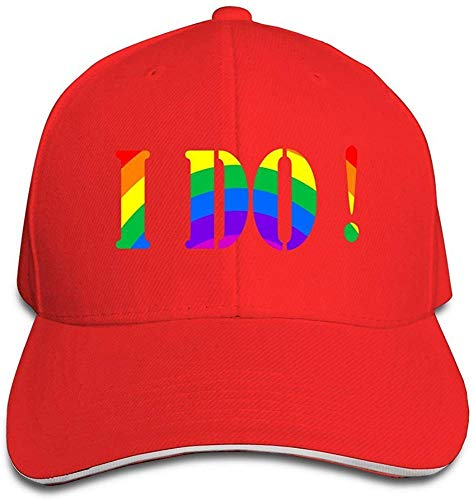 I Do Gay & Lesbian Cool Hip Hop Adult Unisex Cap Red