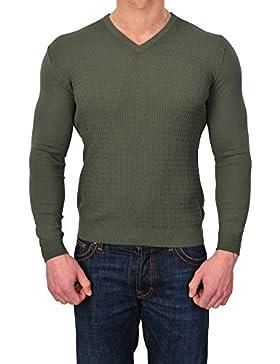 Zanone Suéter Hombre Verde normal algodón casual 50