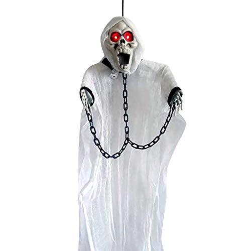 Jamicy® Gruselige Schauende Geist Horror Geiststütze-Halloween Dekorationen, Ghost Terror Death Props Party Tür Dekor, Halloween Bar Spukhaus Layout verkleiden Sich Requisiten, 90 x 50 cm (Geist Halloween-masken 2019)
