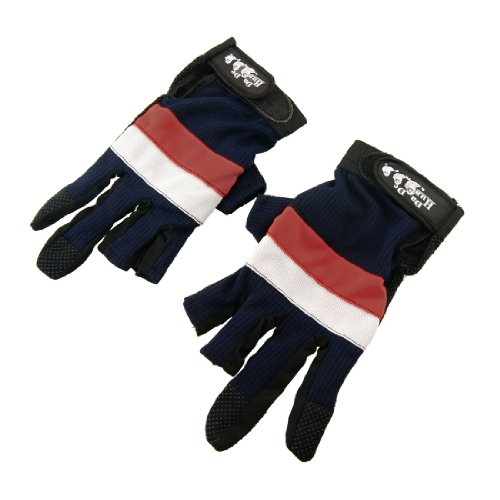 Paar verstellbare Armband 4 Farben Anti Rutsch Angeln Handschuhe Beschützer de