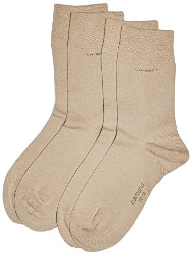 Camano Unisex - Erwachsene Socken 3642 CA-SOFT 2er Pack, Gr. 39/42 (Herstellergröße: 39/42), Beige (sand 18)