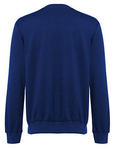 Coofandy herren Crew Neck IST print langarmshirt Long DEM ärmel Reihe casual  Deep Blue ...