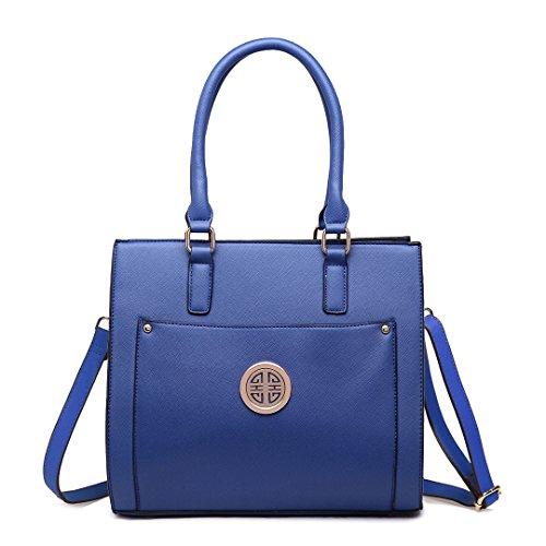 Miss Lulu, Borsa A Mano Da Donna 1650 Blu Scuro
