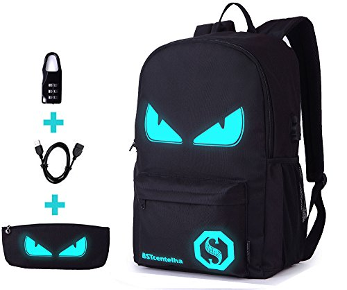 Bstcentelha anime borsa a tracolla luminosa leggera con scomparti per laptop per studenti ragazzi boy girl book laptop travel camping