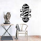 Finloveg Barbiere Decalcomania In Vinile Parrucchiere Parete Adesivo In Vinile Acconciature Home Interior Decor Art Murales Adesivi Per Finestre 56X96Cm