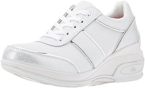 Fornarina daily, sneaker donna, bianco, 37 eu