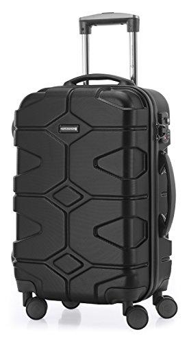 HAUPTSTADTKOFFER - X-Kölln - Handgepäck Hartschalen-Koffer Trolley Rollkoffer Reisekoffer, TSA, 55 cm, 50 Liter, Schwarz matt