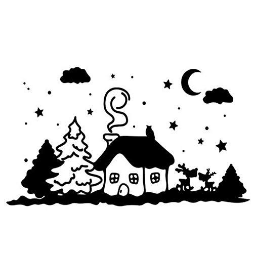 wandaufkleber baum eule Winter Wonderland Weihnachtsbaum Dekor für Kinderzimmer Kinderzimmer