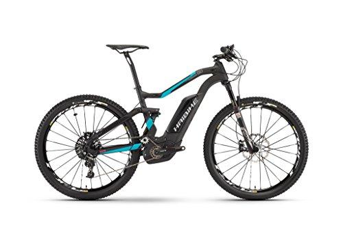 E-Bike Haibike XDURO FullSeven Carbon 8.0 27,5' 500 Wh Bosch Performance CX 11-Gang, Rahmenhöhen:40;Farben:carbon/cyan/rot matt