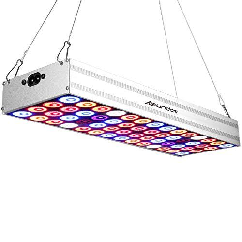 ASUNDOM Volles Spectrum LED Pflanzenlampen 50W Aluminium Pflanzenlampe, die mit Daisy-Chain Funktion und Geeignet für Hydrokultur, Zimmerpflanzen,und Blumen - 50w Hps Lampe