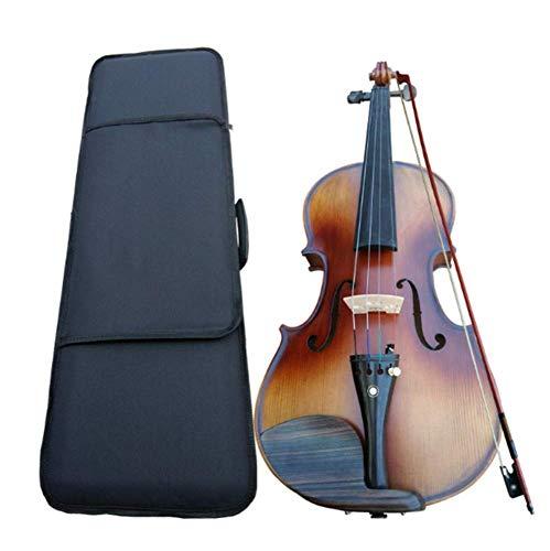 North King Geige massivem Holz handgefertigt Violine Tiger Muster Kinder Erwachsene für Anfänger zum Üben