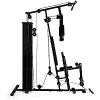 Klarfit Ultimate Gym 5000 • Multiestación musculación • Jaula Entrenamiento Profesional • Pesos y poleas Ajustables • Ejercicios múltiples para Espalda, Pecho, Hombros, Brazos y piernas • Negro