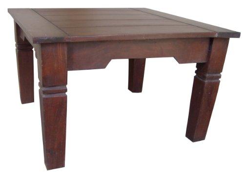 Guru-Shop Table Brun Foncé Café Carré, Teck, 40x60x60 cm, Tables Basses