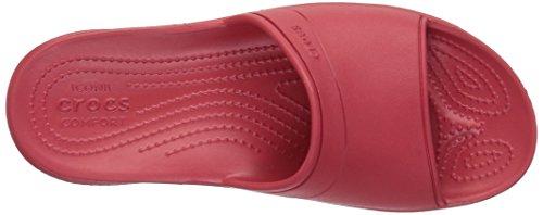 Crocs Classic Slide Ppr, Pantoufles non doublées mixte adulte Rouge (Pepper)