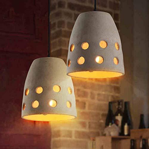 Hxyt lampadario moderno minimalista del tubo del cemento, paralume cavo rotondo unico/adatto a negozio di abbigliamento della camera da letto del salone (e27)