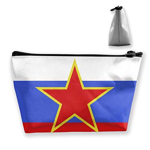 The Red Star Glitters In The Russian Flag Tixing Kosmetiktasche Reise Kosmetiktaschen Etui Stift Glitter Stars-snap