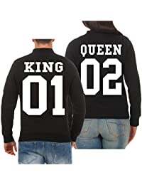 T Shirt mit King Queen Motiv Partnerlook Shirts Love XS 5XL Together Forever